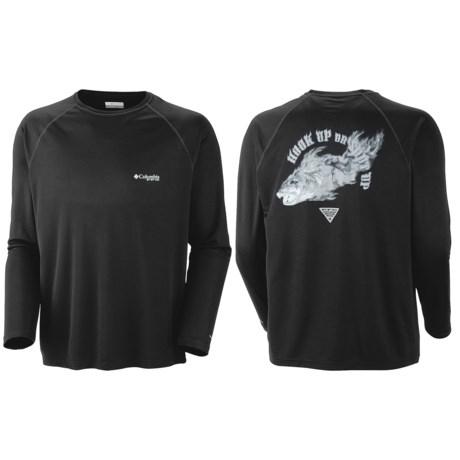 Columbia Sportswear PFG Terminal Tackle Shirt - UPF 50, Long Sleeve (For Men) in Black/Smoked Fish