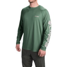 Columbia Sportswear PFG Terminal Tackle Shirt - UPF 50, Long Sleeve (For Men) in Commando/Cool Grey Logo - Closeouts