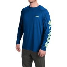Columbia Sportswear PFG Terminal Tackle Shirt - UPF 50, Long Sleeve (For Men) in Marine Blue/Napa Green Logo - Closeouts