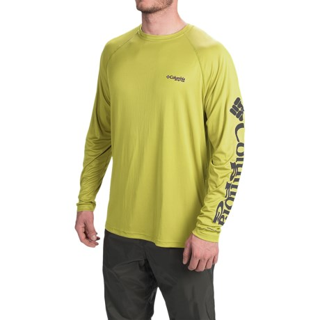 Columbia Sportswear PFG Terminal Tackle Shirt - UPF 50, Long Sleeve (For Men) in Mineral Yellow/Carbon