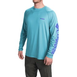 Columbia Sportswear PFG Terminal Tackle Shirt - UPF 50, Long Sleeve (For Men) in Opal Blue/Vivid Blue Logo