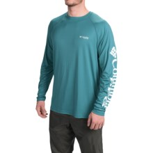 Columbia Sportswear PFG Terminal Tackle Shirt - UPF 50, Long Sleeve (For Men) in Shasta/White Logo - Closeouts