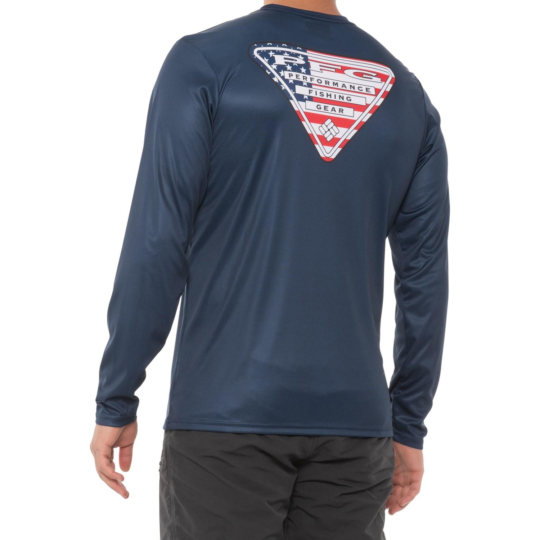 Columbia sportswear pfg terminal tackle shirt for men for Men s upf long sleeve shirt