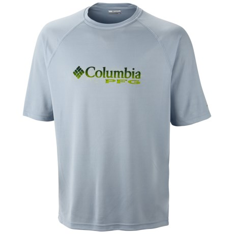 Columbia Sportswear PFG Terminal Tackle T-Shirt - UPF 50, Short Sleeve (For Men) in Mirage/Pfg Logo Dorado