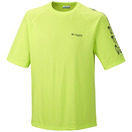 Columbia Sportswear PFG Terminal Tackle T-Shirt - UPF 50, Short Sleeve (For Men) in Tippet/Grill Logo