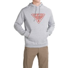 Columbia Sportswear PFG Triangle Hoodie (For Men) in Grey Heather/Sail Red - Closeouts