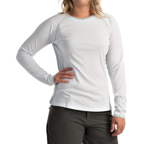 Columbia Sportswear PFG Ultimate Catch Omni-Freeze® ZERO Shirt - UPF 50+, Long Sleeve (For Women) in White/Cirrus Grey