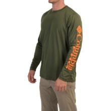 Columbia Sportswear PHG Antler Triangle T-Shirt - UPF 50, Long Sleeve (For Men) in Surplus Green - Closeouts