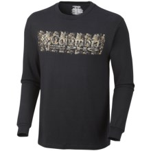 Columbia Sportswear PHG Branded 2 T-Shirt - UPF 15, Long Sleeve (For Men) in 010 Black - Closeouts