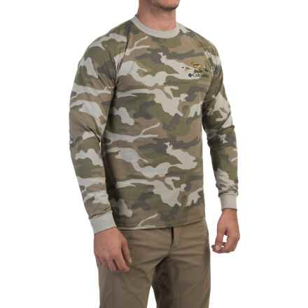 Columbia Sportswear PHG Elements Camo T-Shirt - Long Sleeve (For Men) in Flint Grey Camo/Periodic - Closeouts