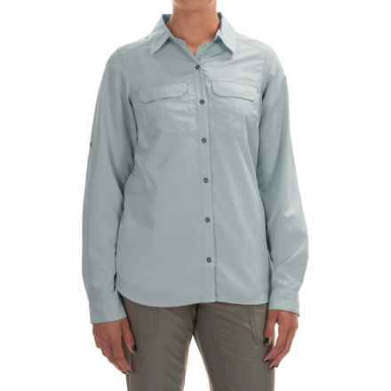 Columbia Sportswear Pilsner Peak Shirt - Omni-Wick®, UPF 50, Long Sleeve (For Women) in Cloudburst Heather - Closeouts