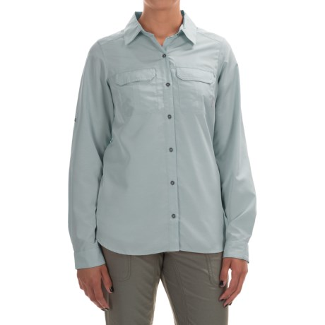Columbia Sportswear Pilsner Peak Shirt - Omni-Wick®, UPF 50, Long Sleeve (For Women) in Cloudburst Heather