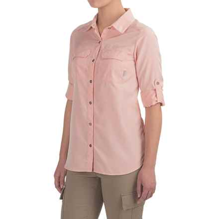 Columbia Sportswear Pilsner Peak Shirt - Omni-Wick®, UPF 50, Long Sleeve (For Women) in Coral Bloom Heather - Closeouts
