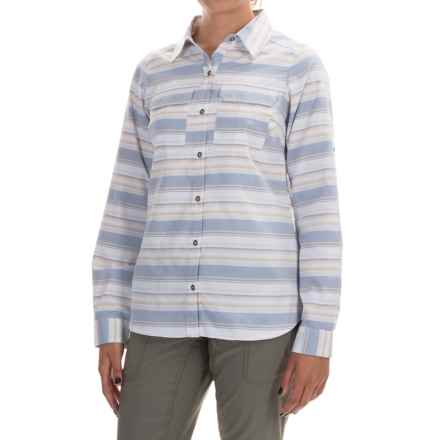 Columbia Sportswear Pilsner Peak Stripe Shirt - Omni-Wick®, UPF 50, Long Sleeve (For Women) in Bluebell Stripe - Closeouts
