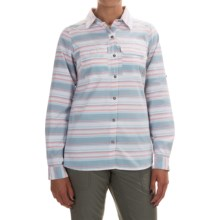 Columbia Sportswear Pilsner Peak Stripe Shirt - Omni-Wick®, UPF 50, Long Sleeve (For Women) in Cloudburst Stripe - Closeouts