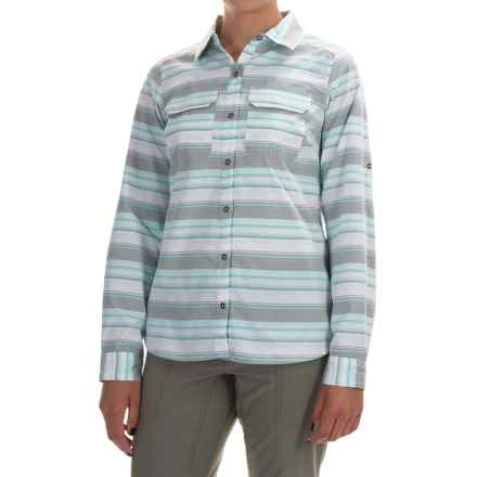 Columbia Sportswear Pilsner Peak Stripe Shirt - Omni-Wick®, UPF 50, Long Sleeve (For Women) in Cypress Stripe - Closeouts