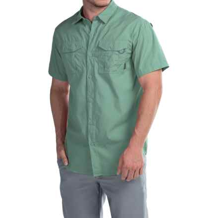 Columbia Sportswear Pine Park Shirt - Short Sleeve (For Men) in Gemstone - Closeouts