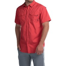 Columbia Sportswear Pine Park Shirt - Short Sleeve (For Men) in Sunset Red - Closeouts