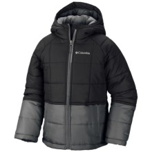 Columbia Sportswear Pine Pass Jacket - Insulated (For Little and Big Boys) in Black, Graphite - Closeouts