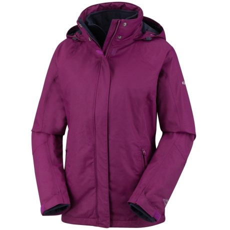 Columbia Sportswear Pioneering Peak 3-in-1 Jacket - Waterproof (For Women) in Dark Raspberry