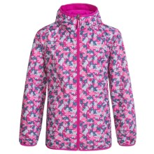 Columbia Sportswear Pixel Grabber II Wind Jacket (For Kids) in Haute Pink Camo - Closeouts