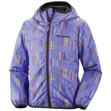 Columbia Sportswear Pixel Grabber Wind Jacket (For Kids) in Fairytale Pixel - Closeouts