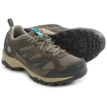 Columbia Sportswear Plains Ridge Hiking Shoes (For Women) in Pebble/Aqua - Closeouts