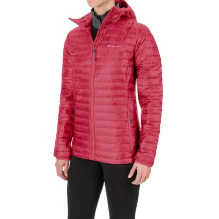 Columbia Sportswear Platinum Plus 740 TurboDown® Hooded Jacket - 700 Fill Power (For Women) in Punch Pink - Closeouts