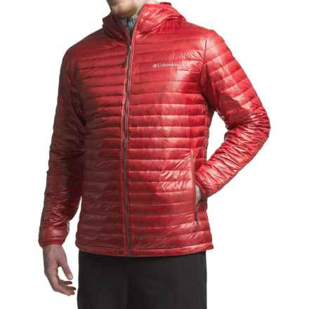 Columbia Sportswear Platinum Plus 740 TurboDown® Omni-Heat® Hooded Jacket -700 Fill Power (For Men) in Mountain Red - Closeouts