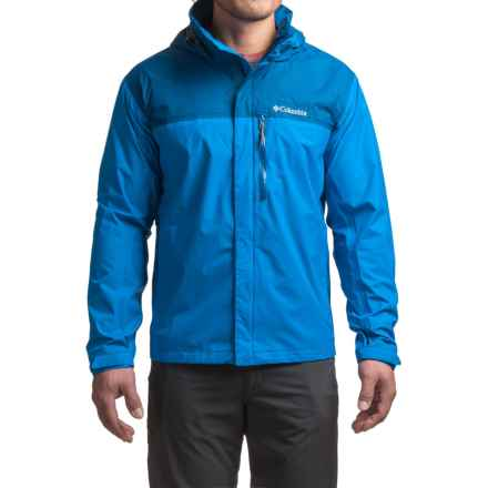 Columbia Sportswear Pouration Omni-Tech® Rain Jacket - Waterproof (For Big Men) in Hyper Blue/Marine Blue - Closeouts