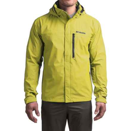 Columbia Sportswear Pouration Omni-Tech® Rain Jacket - Waterproof (For Big Men) in Mineral Yellow - Closeouts
