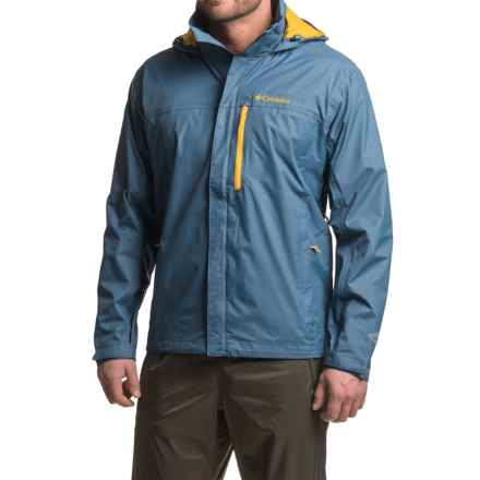 Columbia Sportswear Pouration Omni-Tech® Rain Jacket - Waterproof (For Men) in Night Tide - Closeouts