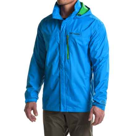 Columbia Sportswear Pouration Omni-Tech® Rain Jacket - Waterproof (For Tall Men) in Hyper Blue - Closeouts