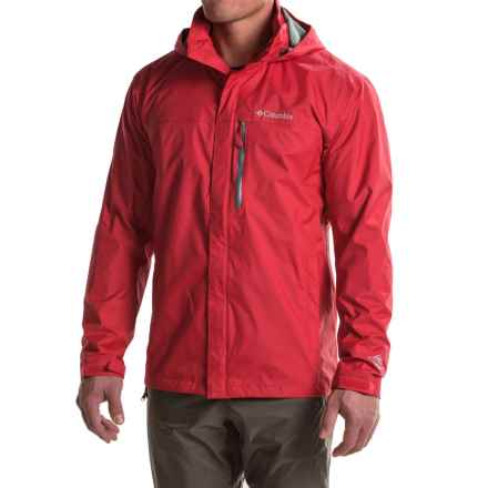 Columbia Sportswear Pouration Omni-Tech® Rain Jacket - Waterproof (For Tall Men) in Mountain Red - Closeouts