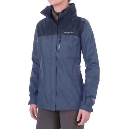 Columbia Sportswear Pouration Omni-Tech® Rain Jacket - Waterproof (For Women) in Bluebell/Nocturnal - Closeouts