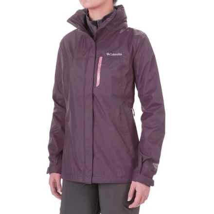 Columbia Sportswear Pouration Omni-Tech® Rain Jacket - Waterproof (For Women) in Dusty Purple/Rosewater - Closeouts