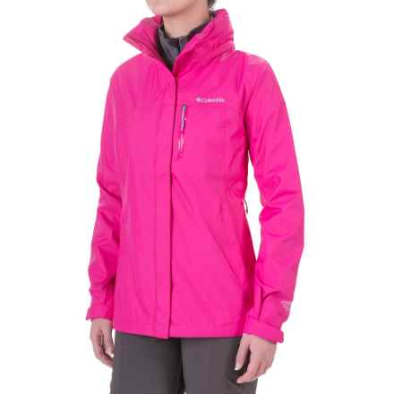 Columbia Sportswear Pouration Omni-Tech® Rain Jacket - Waterproof (For Women) in Haute Pink - Closeouts