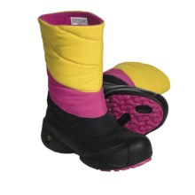 Columbia Sportswear Powder Down Winter Boots - Waterproof, Insulated (For Youth) in Black/Sulphur - Closeouts