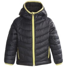 Columbia Sportswear Powder Lite Hybrid Puffer Jacket (For Girls) in Black - Closeouts