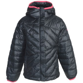 Columbia Sportswear Powder Lite Jacket - Insulated (For Toddler Girls) in Black/Afterglow