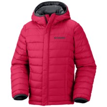Columbia Sportswear Powder Lite Jacket Omni Shield- Insulated Jacket (For Little and Big Boys) in Bright Red - Closeouts