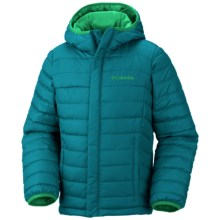 Columbia Sportswear Powder Lite Jacket Omni Shield- Insulated Jacket (For Little and Big Boys) in Deep Wave - Closeouts