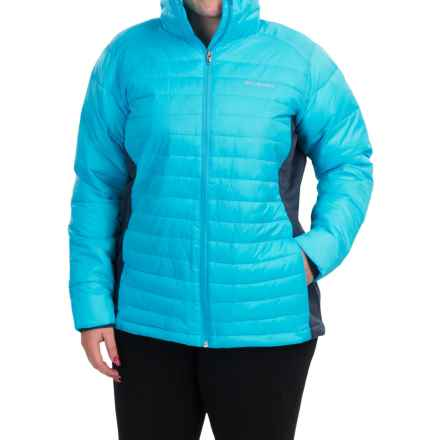 Columbia Sportswear Powder Pillow Hybrid Jacket - Insulated (For Plus Size Women) in Atoll - Closeouts