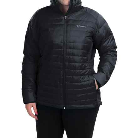 Columbia Sportswear Powder Pillow Hybrid Jacket - Insulated (For Plus Size Women) in Black - Closeouts