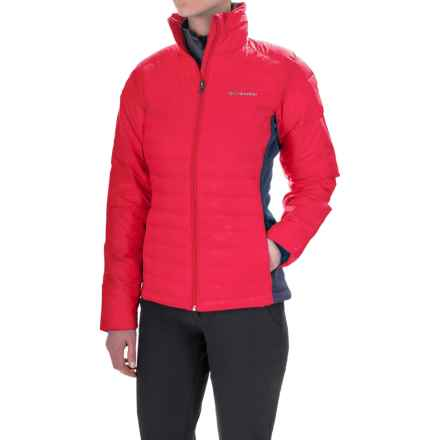 Columbia Sportswear Powder Pillow Hybrid Jacket - Insulated (For Women) in Punch Pink - Closeouts