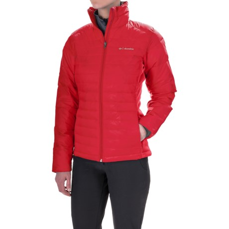 Columbia Sportswear Powder Pillow Hybrid Jacket - Insulated (For Women) in Red Camellia
