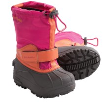 Columbia Sportswear Powderbug Forty Boots - Waterproof, Insulated (For Youth Boys and Girls) in Bright Rose/Zing - Closeouts