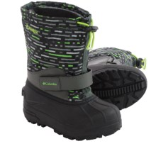 Columbia Sportswear Powderbug Forty Print Snow Boots - Waterproof, Insulated (For Little Kids) in Grill/Nuclear - Closeouts