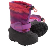 Columbia Sportswear Powderbug Forty Print Snow Boots - Waterproof, Insulated (For Little Kids) in Razzle/Corange - Closeouts