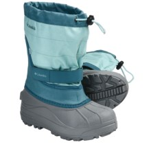 Columbia Sportswear Powderbug Plus II OutDry® Winter Boots - Waterproof (For Youth) in Clear Blue/Shast - Closeouts